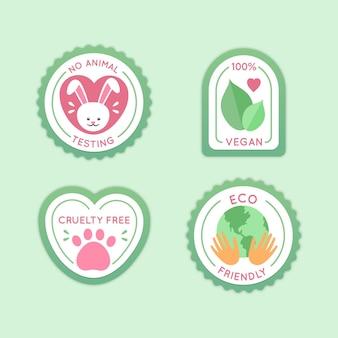 Colección de insignias libres de crueldad