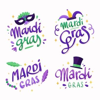 Colección de insignias de mardi gras