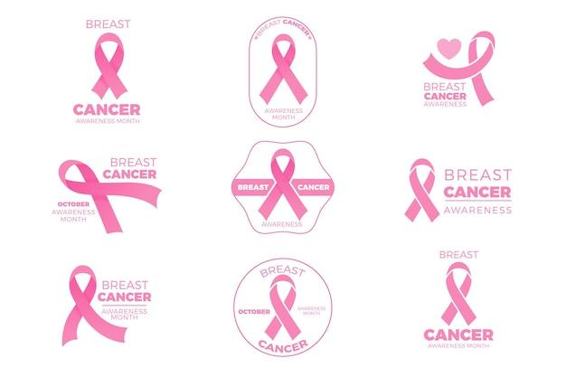 Colección de insignias del mes de concientización sobre el cáncer de mama