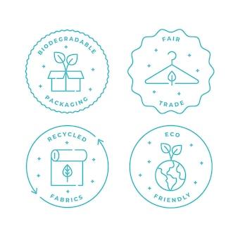 Colección de insignias de moda lenta
