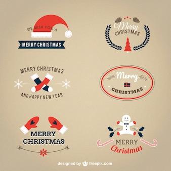 Colección de insignias de navidad