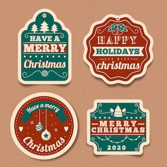 Colección de insignias navideñas vintage