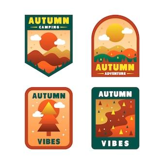 Colección de insignias de otoño
