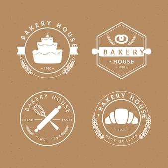Colección de insignias de panadería retro