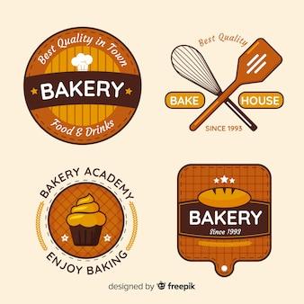 Colección de insignias de panadería