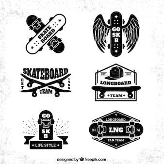 Colección de insignias de patinaje