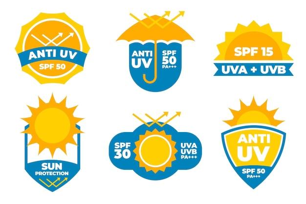 Colección de insignias planas uv orgánicas