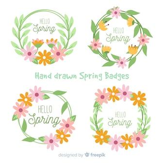Colección de insignias de primavera