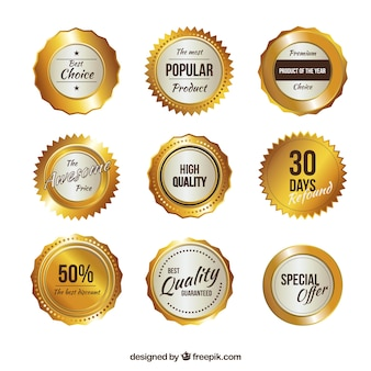 Colección insignias promocionales
