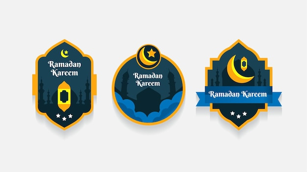 Colección de insignias de ramadan kareem