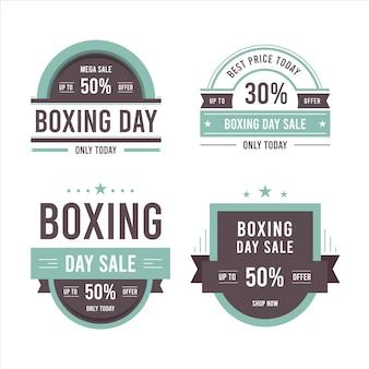 Colección de insignias de rebajas de boxeo vintage