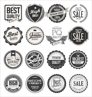 Colección de insignias retro vintage