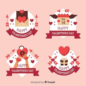 Colección de insignias de san valentín