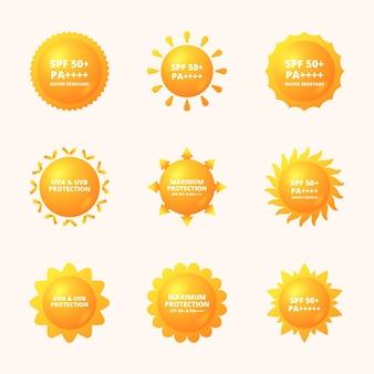 Colección de insignias ultravioleta creativas.