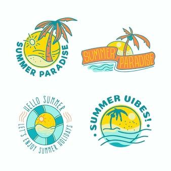 Colección de insignias de verano