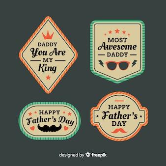 Colección de insignias vintage del día del padre