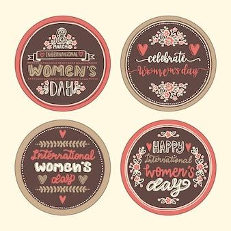 Colección de insignias vintage para mujeres