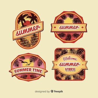 Colección de insignias vintage de verano