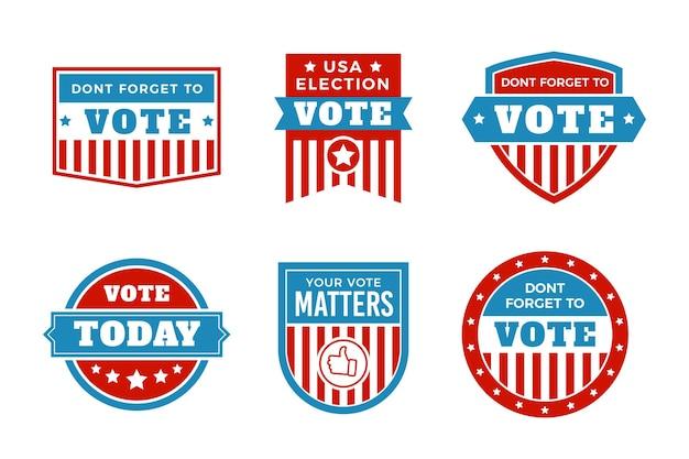 Colección de insignias de votación