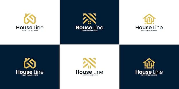 Una colección de inspiración para el diseño de logotipos de casas minimalistas modernas