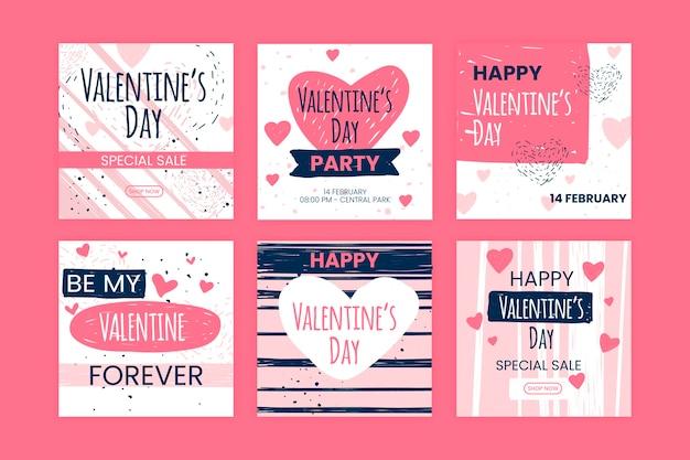 Colección de instagram del día de san valentín