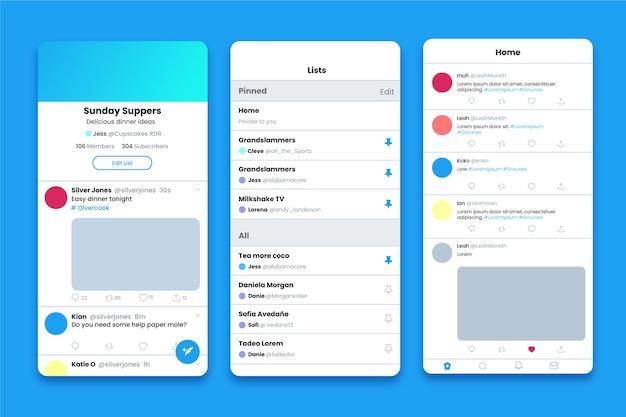 Colección de interfaces de aplicaciones de twitter