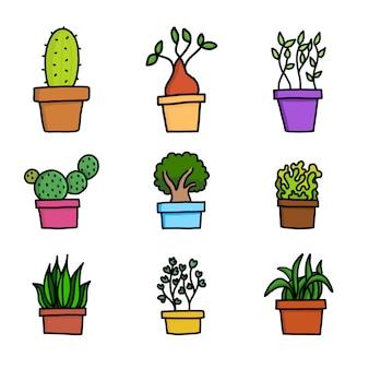 Colección de jardín de planta de maceta