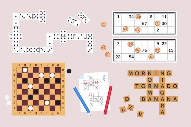 Colección de juegos de mesa de estrategia