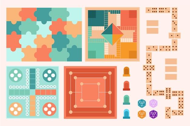 Colección de juegos de mesa estratégicos