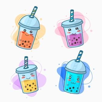 Colección kawaii bubble tea
