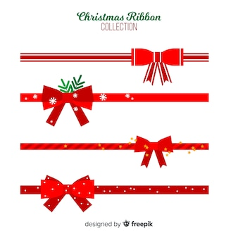 Colección lazos navidad planos