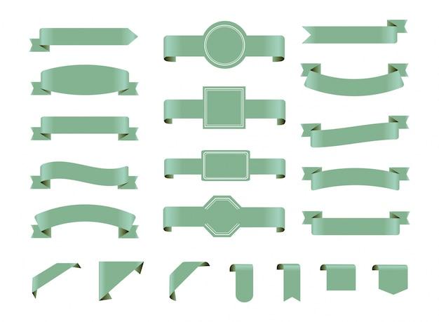Colección de lazos verdes