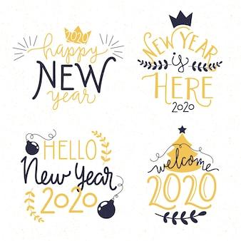 Colección de letras de año nuevo 2020