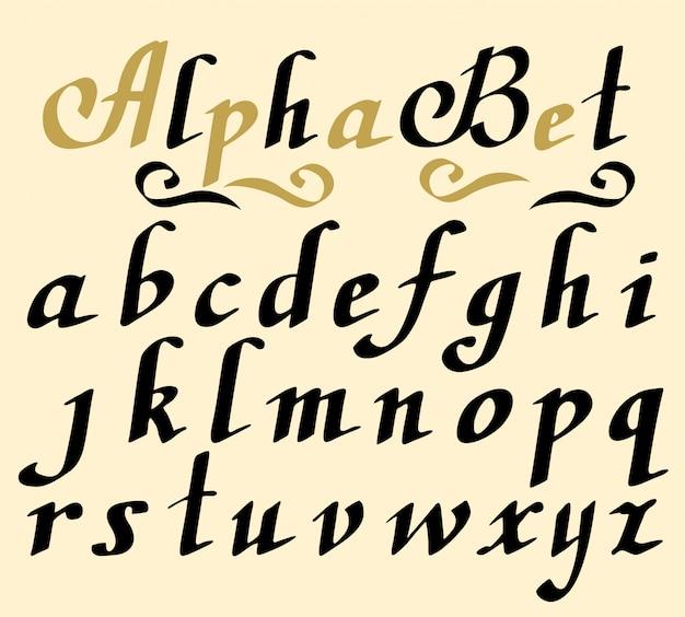 Colección de letras dibujadas a mano.