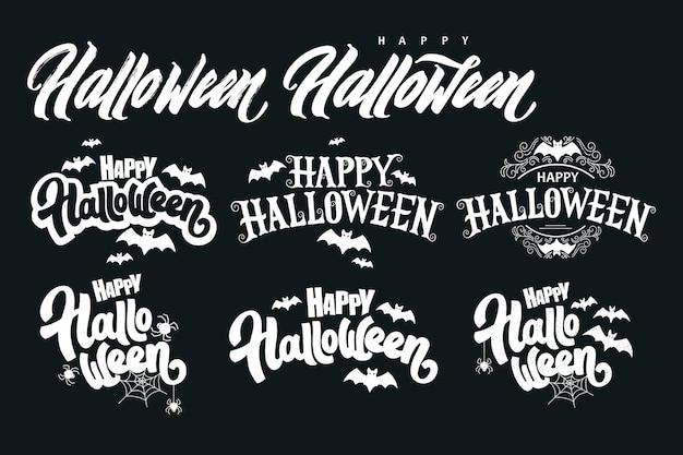 Colección de letras happy halloween