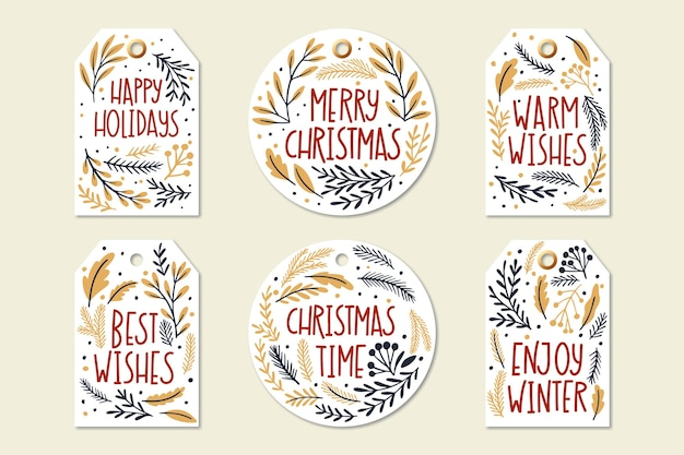 Colección de letras navideñas