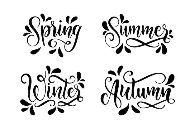 Colección de letras de temporadas monocromáticas