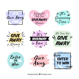 Colección de lettering de regalo para concursos