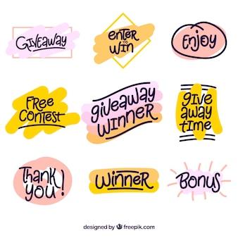 Colección de letterings para concursos