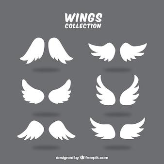 Colección linda de alas decorativas