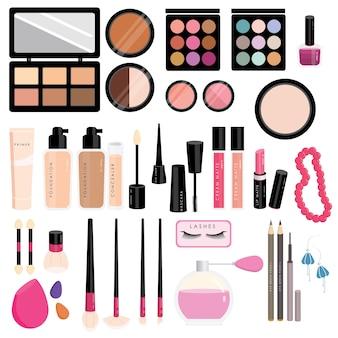 Colección linda de maquillaje