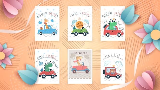 Colección de lindas tarjetas de felicitación