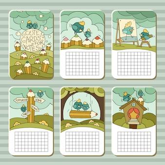 Colección de lindas tarjetas