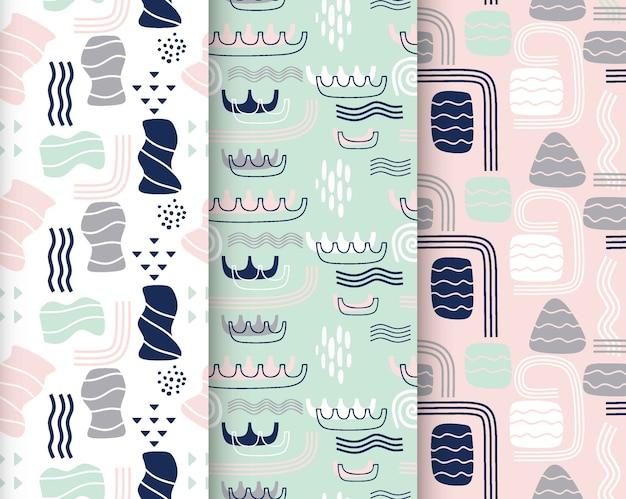 Colección de lindos patrones sin fisuras.