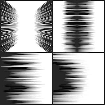 Colección de líneas de movimiento