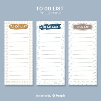 Colección de lista to do