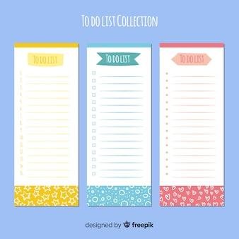 Colección de listas to do