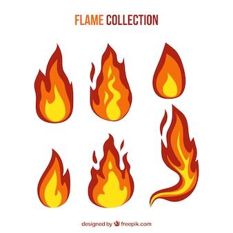 Colección de llamas con variedad de diseños