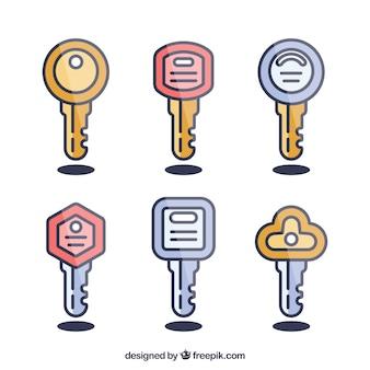 Colección de llaves planas