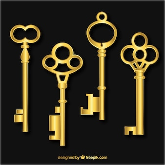 Colección de llaves realistas